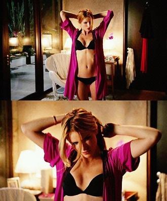 swimwear bella thorne bikini scream satin robe black fuchsia purple