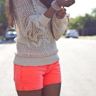 shorts orange shirt