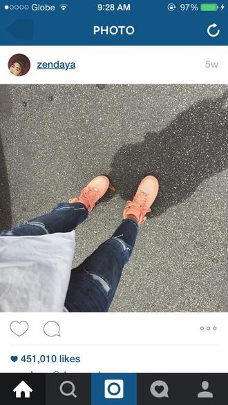 shoes nike air force 1 nike air nike sneakers high top sneakers instagram zendaya nike sneakers