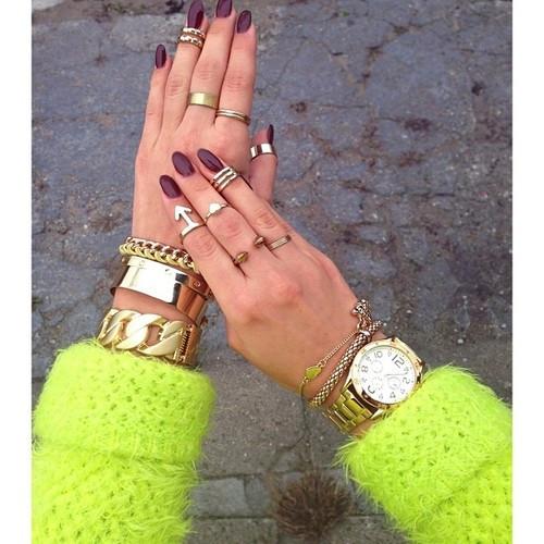 C*line Chunky Chain Gold Bracelet – Glamzelle