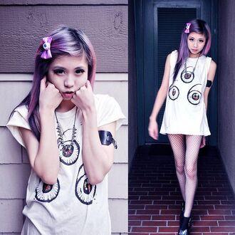 shirt pastel goth grunge kawaii eyeball 666