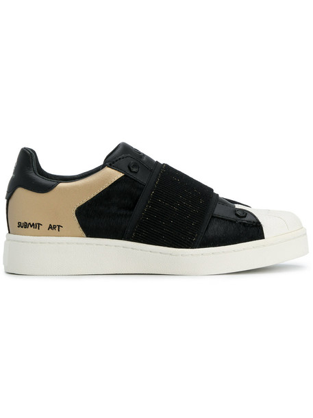 MOA MASTER OF ARTS hair women sneakers leather cotton black camel shoes