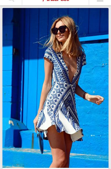 printed dress sunglasses shades blueandwhite