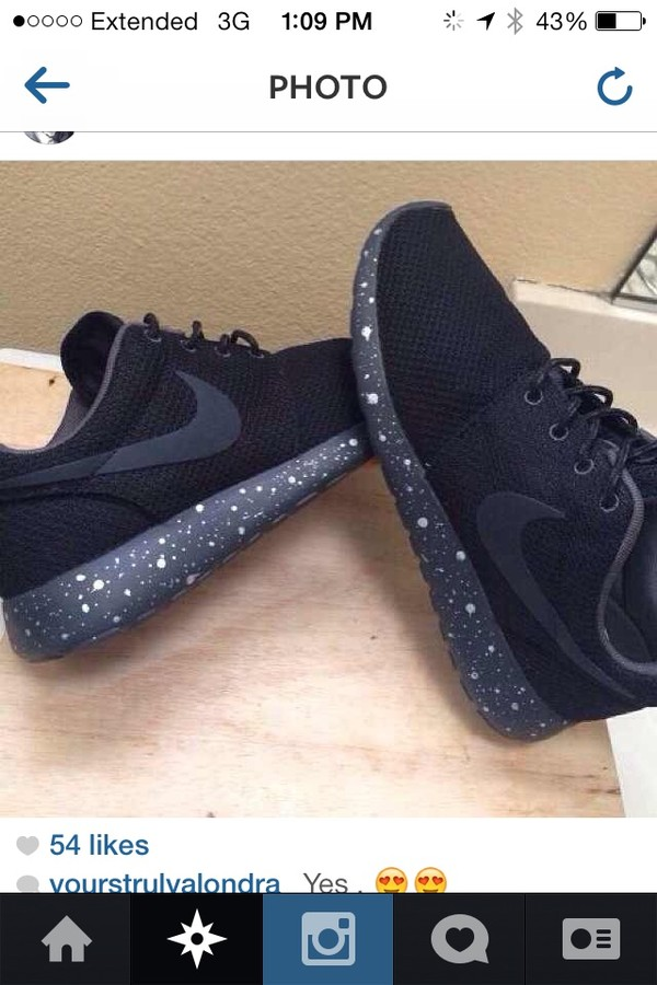 shoes nike nike air black white polka dot