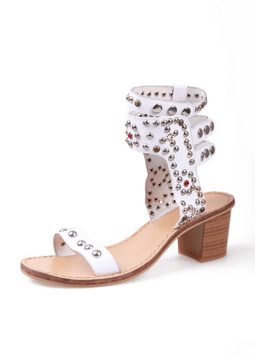 Anna Xi Monica Studded Sandal