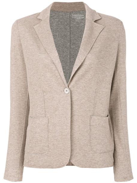 Majestic Filatures blazer women classic nude cotton jacket