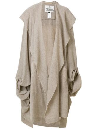 coat oversized women nude cotton wool