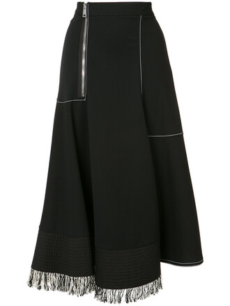 skirt zip women black