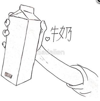 soft grunge indie chinese writing pale pale grunge milk carton grunge art