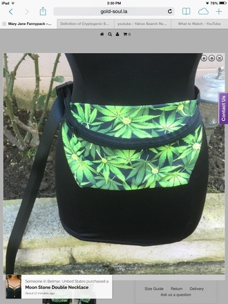 bag weed fanny pack mary jane fannypack weed mary jane