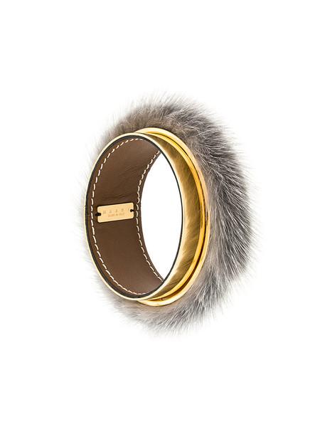 MARNI cuff fur women cuff bracelet grey jewels