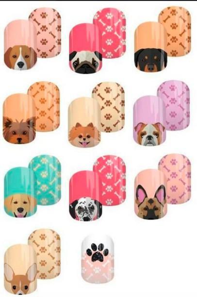 Nail Accessories Dog Funny Nail Polish Nails Nail Art Nail