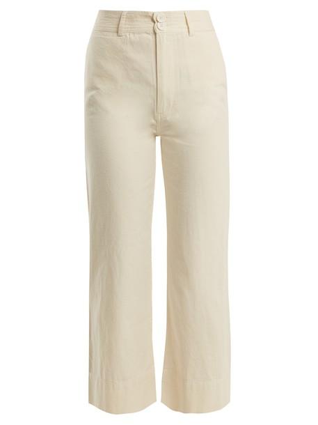 cotton cream pants