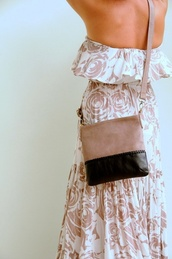 bag,purse,crossbody bag,leather,leather bag,nude,blush,dusty pink