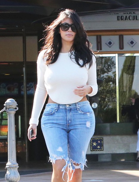 blouse white top backless kim kardashian