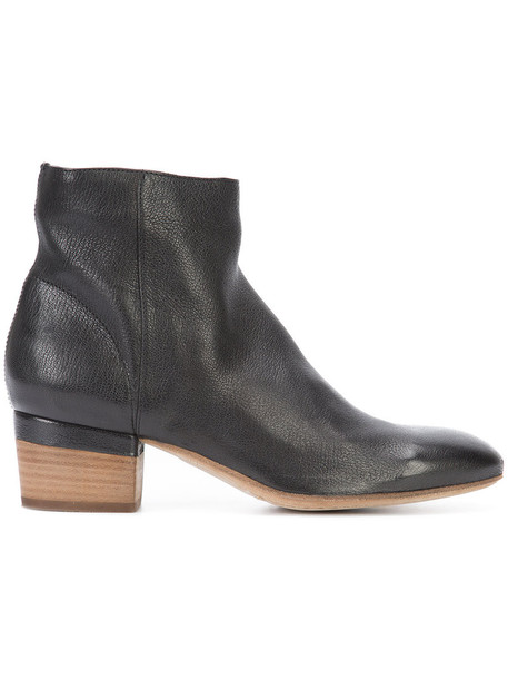 OFFICINE CREATIVE women ankle boots leather black shoes