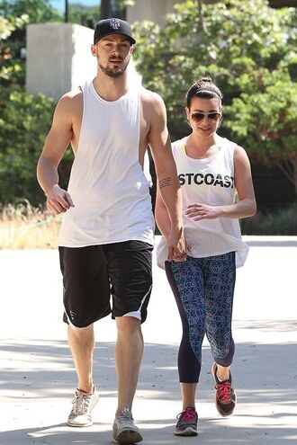 leggings top lea michele sportswear sneakers shoes