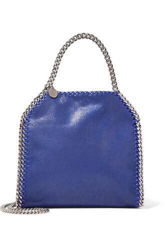 mini leather blue royal blue bag