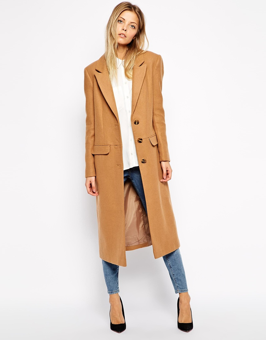 ASOS Midi Coat In Wool At Asoscom
