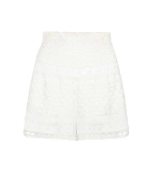 Philosophy Di Lorenzo Serafini Jacquard high-waisted shorts in white
