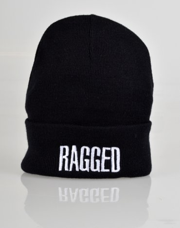 Ragged Beanie Hat By The  Ragged Priest - Black