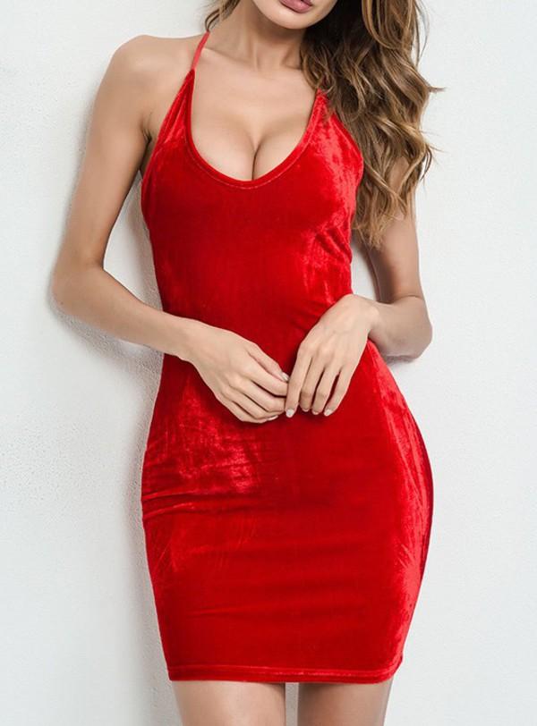 f6104ab14b1d dress girly red dress red velvet velvet dress bodycon dress bodycon.