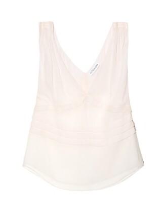 top chiffon sleeveless silk light pink light pink