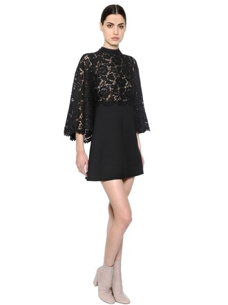 dress couture dress couture lace floral black