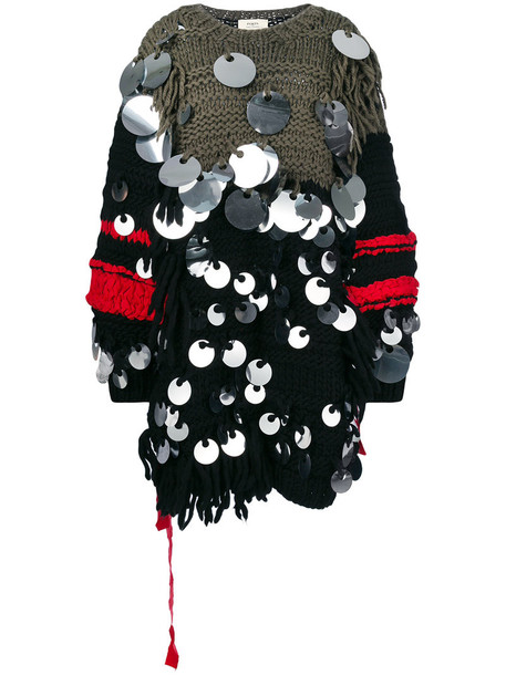 PORTS dress sweater dress oversized women wool