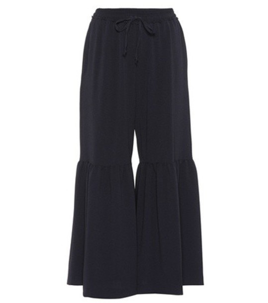 See by Chloe cropped blue pants