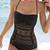Black Lace Halter Swimsuit