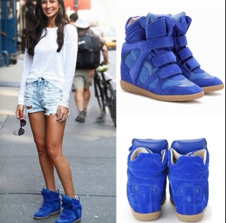 shoes blue shoes isabel marant