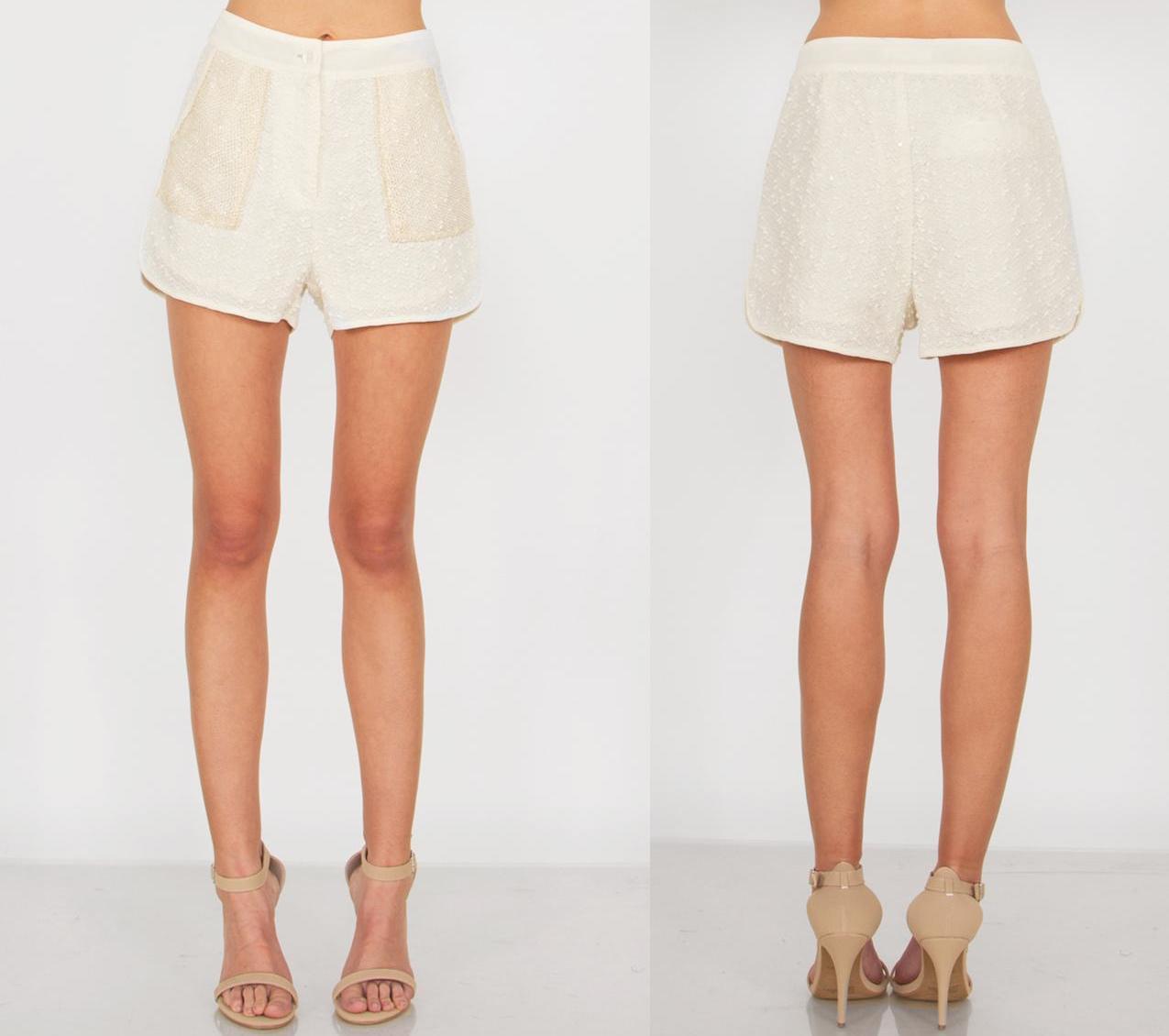 Classy delights cream shorts · trendyish · online store powered by storenvy