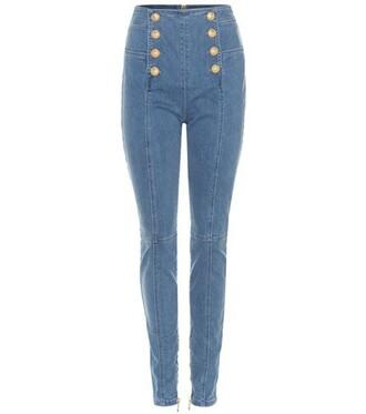 jeans skinny jeans embellished blue