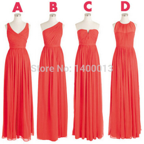 dress bridesmaid long bridesmaid dress coral bridesmaid dress chiffon bridesmaid dresses mismatch bridesmaid dresses