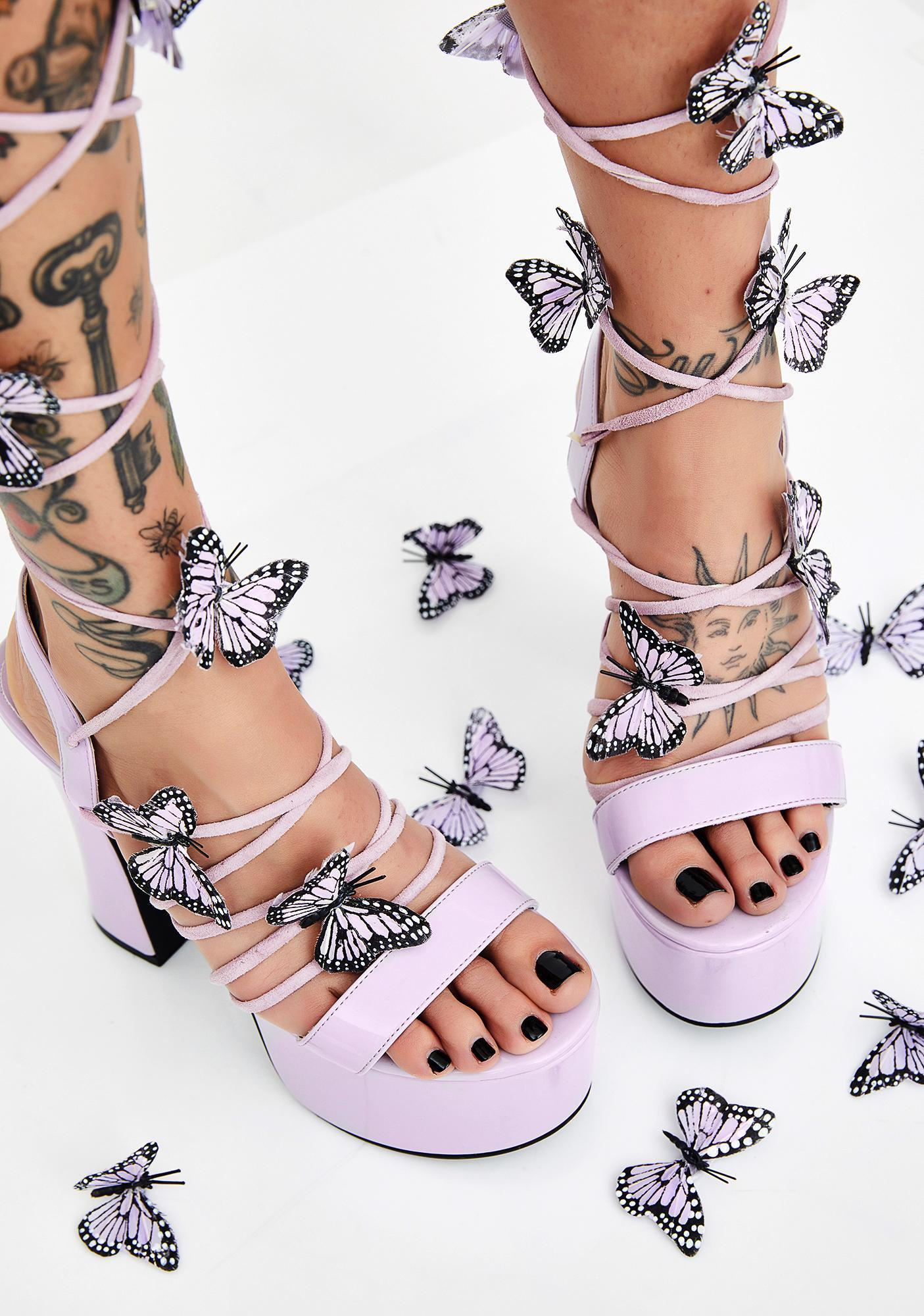 Pixie Queen Lace Up Heels