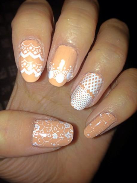 nail polish custard orange