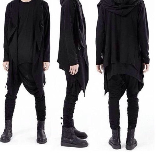 sweater black swimwear street goth