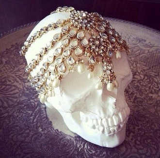 jewels skull hat head jewels headpiece