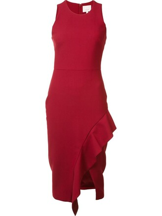 dress women spandex red