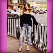 top,Stone Cold Fox,black,off the shoulder,Rosie Fortescue,made in chelsea nyc,revolve clothing,revolve,revolveme