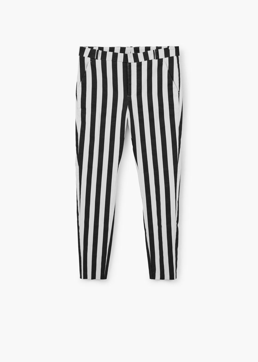 dirt cheap Clearance sale cheaper Striped cotton trousers - Women | MANGO