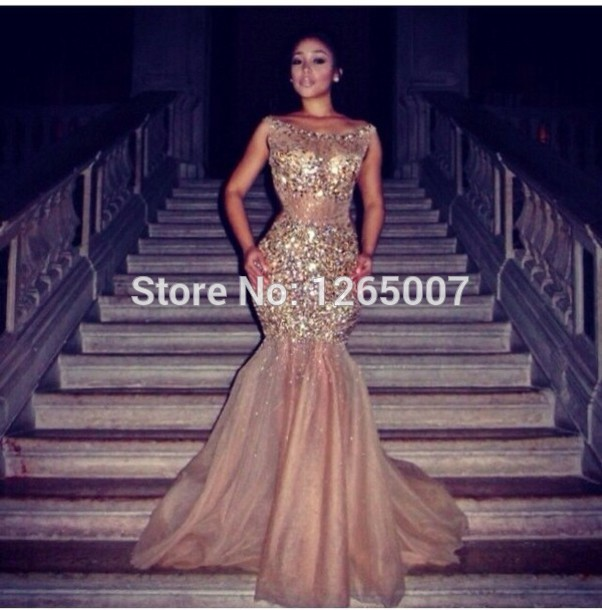 Aliexpress.com : Buy 2014 New Arrival Boat Neck See Through Crystal Rhinestone Beaded Fitted Mermaid Prom Dress Sexy Fashion Long Dress Summer from Reliable dress forms for sale suppliers on SFBridal