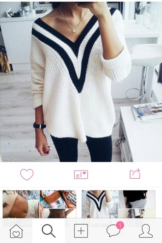 top black and white knitwear