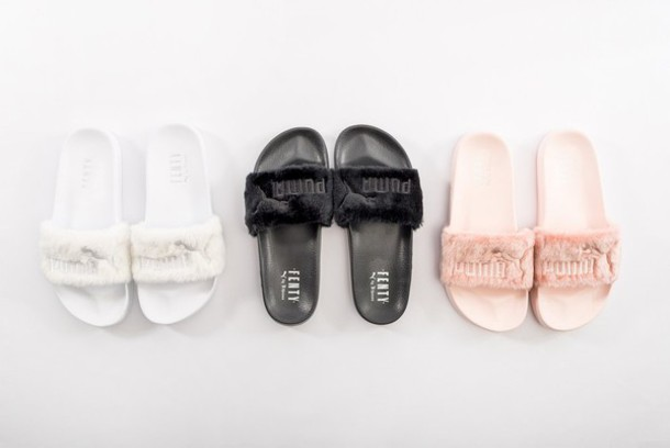shoes fur puma slides rihanna fur slippers rihanna fur slides fur shoes  fluffy fur fur slippers 1f1a1af24