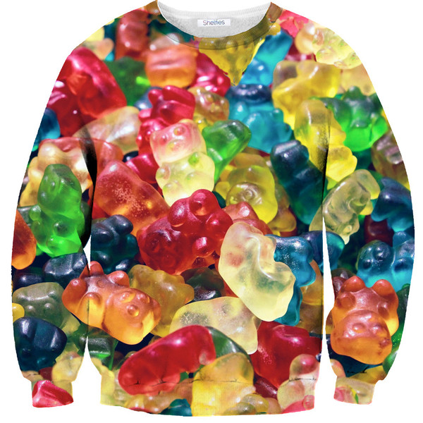 Gummy bear sweater – shelfies