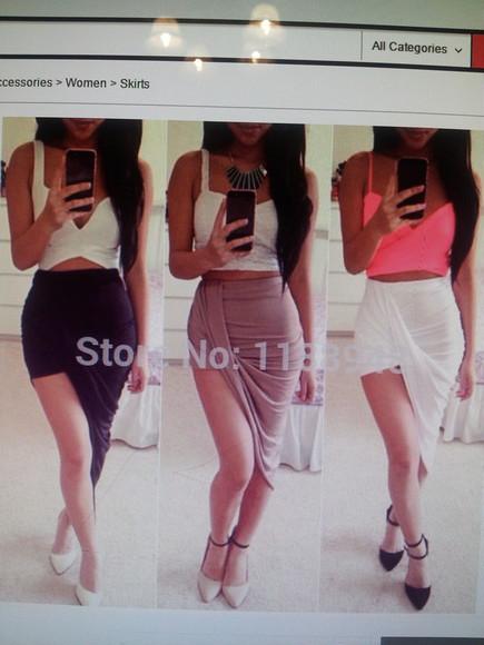 asymetric skirt variety stylish