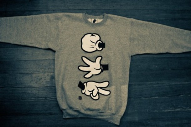 Sweater Crewneck Unisex Mickey