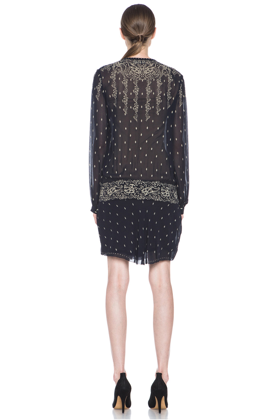 Etoile Isabel Marant|Risha Gipsy Dress in Night Blue