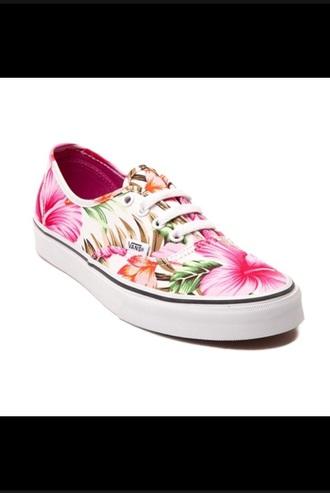 shoes vans hawiian print floral